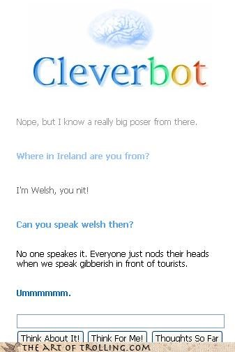 Cleverbot england great britain Ireland nit no difference ot me welsh - 4533812224