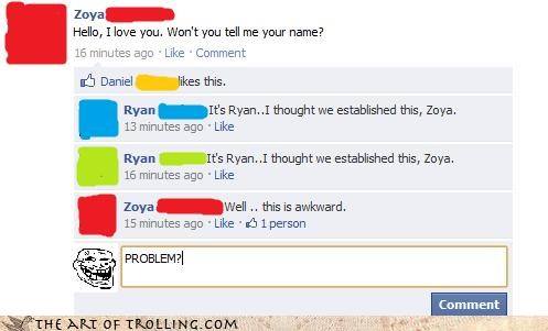 Awkward facebook hello i love you people are strange ryan the doors zoya-is-a-name - 4533876224