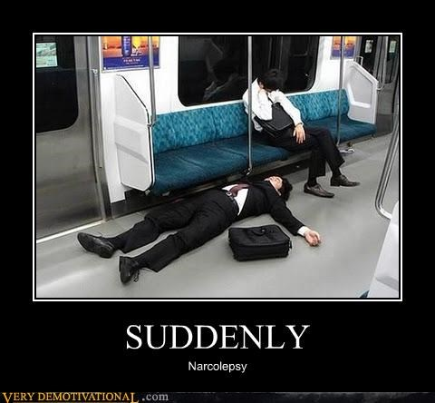 narcolepsy,public transit,suddenly,train