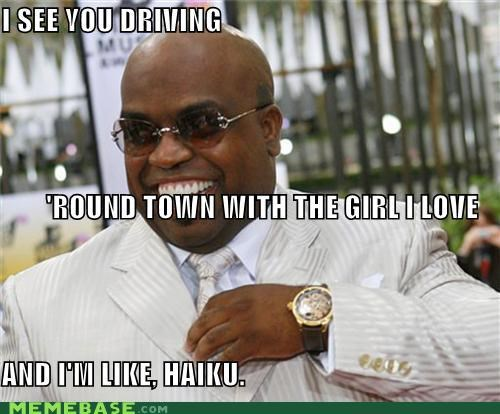 ceelo green,haiku,Japan,poem