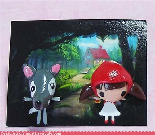 Big Bad Wolf Earring Little Red Riding Hood - 4534167296