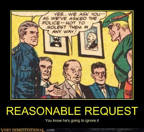 comics green arrow molest reasonable request