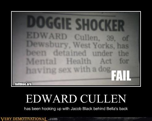 doggie edward cullen england Hall of Fame twilight wtf - 4534582272