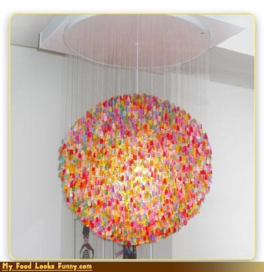 chandelier,decor,gummy bears,light,snack