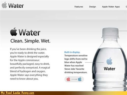 apple bottle design steve jobs water
