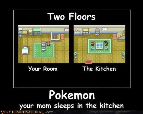 Hall of Fame,house,kitchen,mom,Pokémon