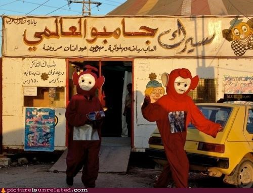 creepy,middle east,teletubbies,wtf
