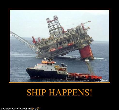 disaster FAIL ocean oil puns ship - 4535505408