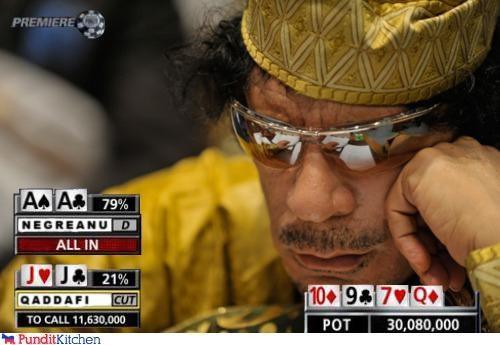 gambling libya muammar gaddafi poker - 4535532032