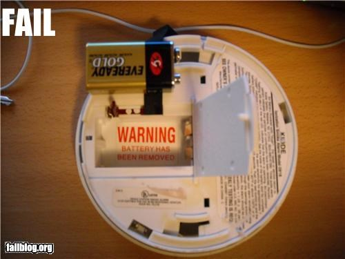 battery caution failboat fire detector oddly specific removal warning - 4535819776