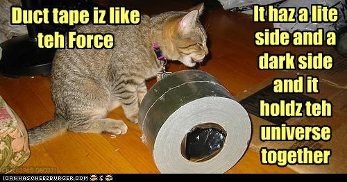 caption,captioned,cat,comparison,dark,duct tape,force,Hall of Fame,holding,light,side,sides,star wars,together,universe,wisdom