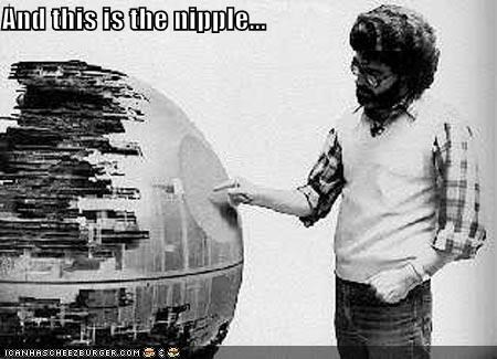 Death Star funny george lucas sci fi star wars - 4536293120