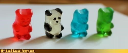 candy,gummy bears,modified,panda,pen