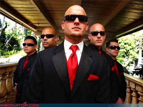 funny wedding photos Groomsmen secret service sunglasses - 4537098752