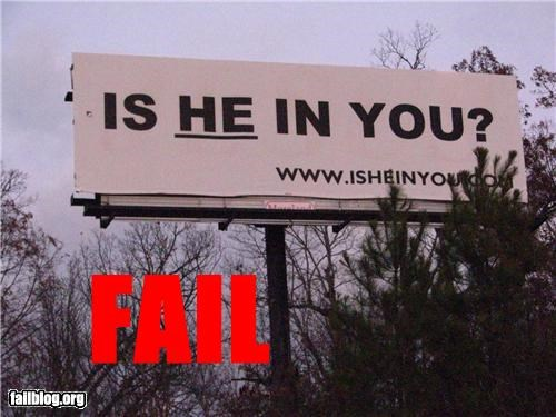 bilboards facepalm failboat innuendo religion signs wording - 4537273600