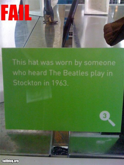 failboat g rated hats museum Music the Beatles - 4537369088