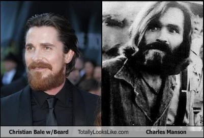 actors beards charles manson christian bale