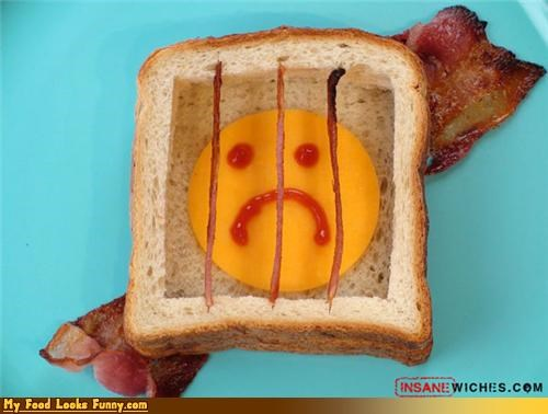 bacon bread cheese prison sandwich - 4538134528
