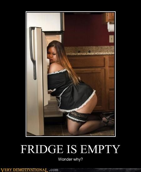 FRIDGE IS EMPTY Wonder why?