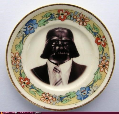 business darth vader plate serious star wars wtf - 4538516480