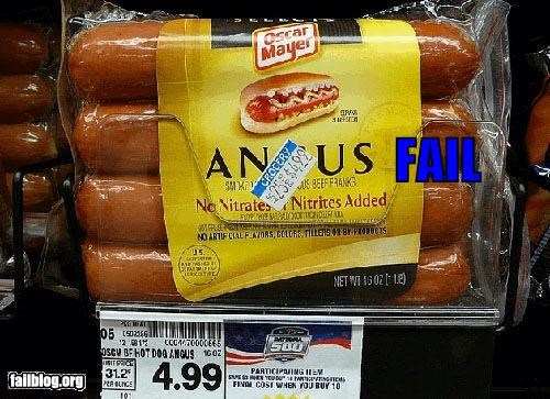 Beef butt failboat hot dogs meat placement price tags - 4538608896