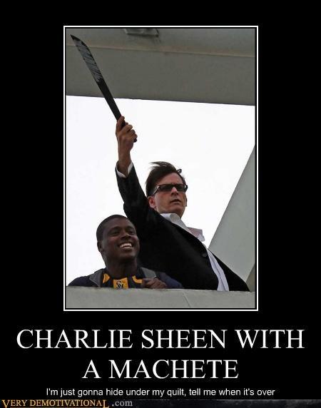 Charlie Sheen machete wtf - 4538665984