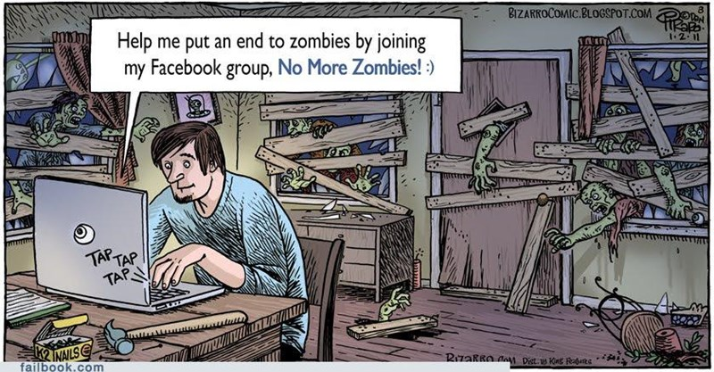 comic groups image slacktivism zombie - 4538777344
