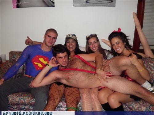 eww,fuzzy chest,group,mankini,wtf