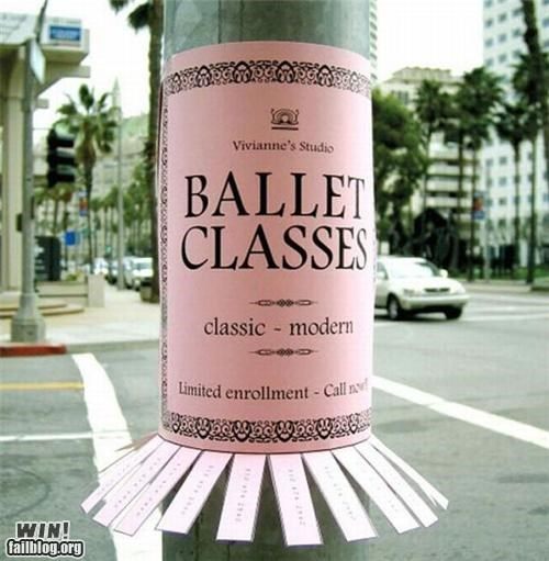 advertising,ballet,clever,notes