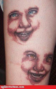 wtf creepy tattoos funny faces - 4539740416