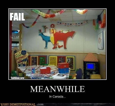 Canada Meanwhile moose Ronald McDonald - 4539982336