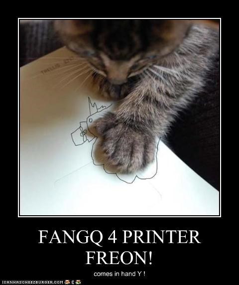 FANGQ 4 PRINTER FREON! comes in hand Y !