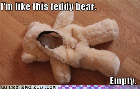empty furry similes teddy bear toys