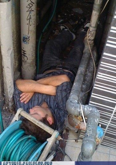 drunk garden hose hose passed out sleep weird - 4540649728