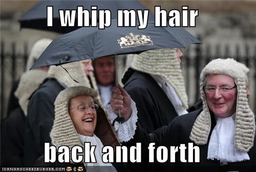 British i whip my hair back and forth judges UK whip my hair wigs - 4540880640