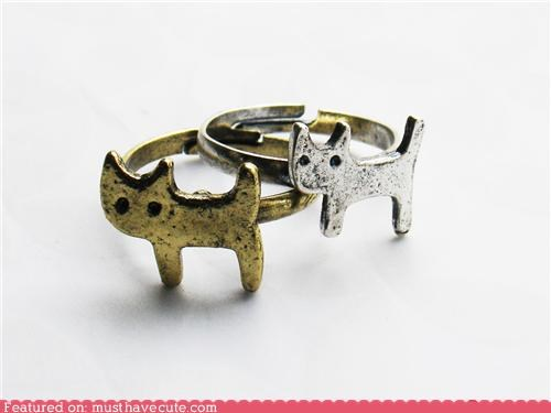adjustable gold Jewelry kitty silver - 4540882944