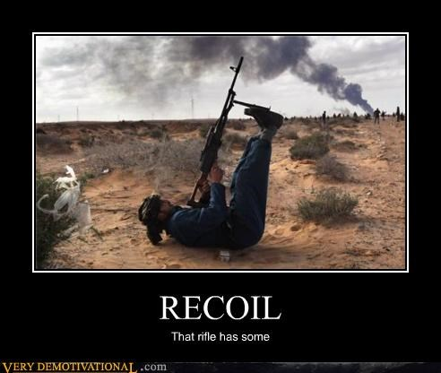 recoil rifle supine weapon