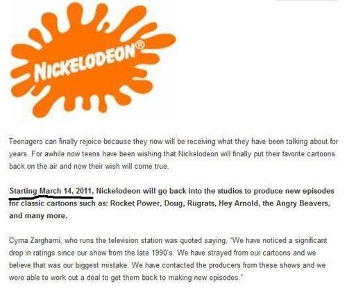 Nick Nick Nick nickelodeon NickToon Nostalgia Overload Snick TeenNick - 4541306624