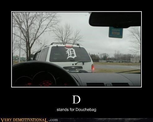 car D douchebag sticker - 4541351168