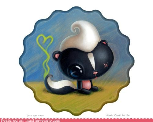 love painting skunk stink - 4541364992