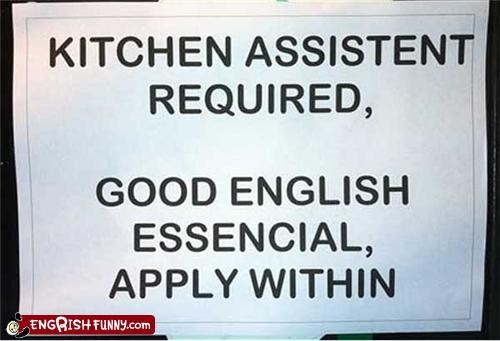 engrish FAIL help wanted restaurant - 4541437696
