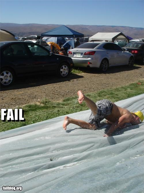 faceplant,failboat,g rated,ouch,outdoors,slides