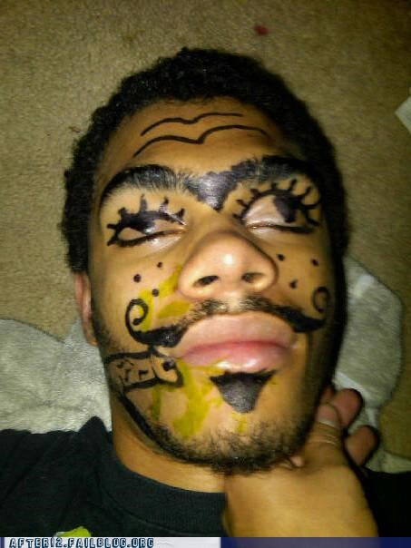 passed out sharpie unibrow - 4541667840