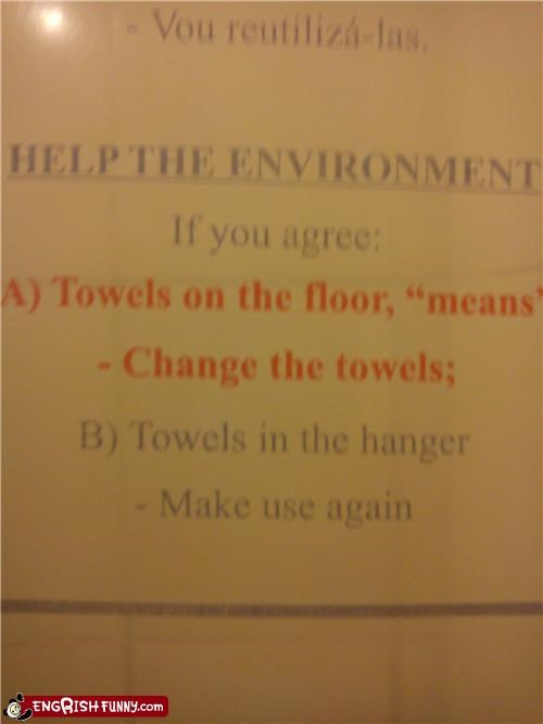 hanger,note,towel