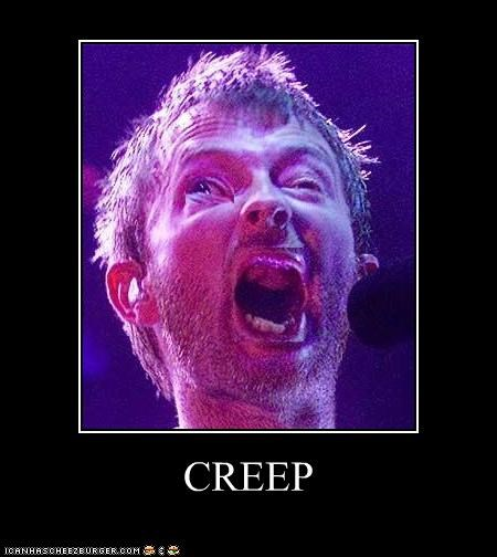 Celebriderp,concerts,creep,Music,radiohead,Thom Yorke