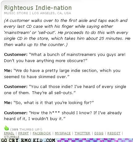 always right anecdotes hipster indie mainstream sell-outs typical - 4541922304