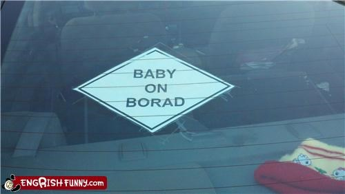 baby baby on board car engrish - 4541945856