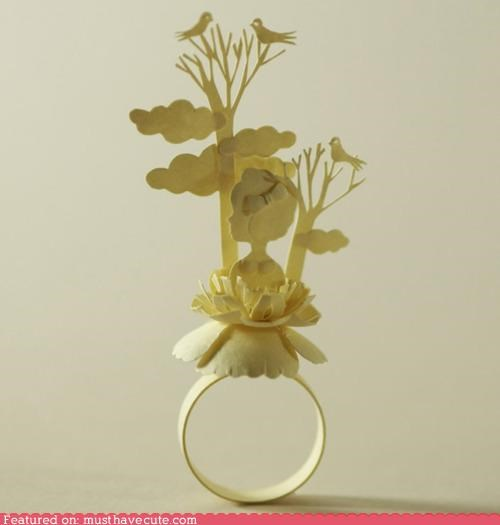 art,Jewelry,paper,ring
