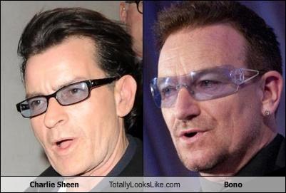 actors bono Charlie Sheen douchebags ego musicians sunglasses - 4541982976