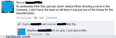 lol,sarah jessica parker,status